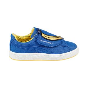 Tenis-Puma-Minions-Basket-Statement-Denim-Velcro-PS-Infantil