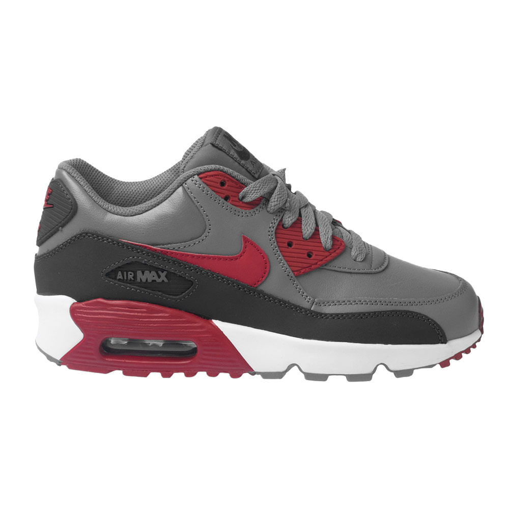 Tênis Nike Air Air Nike Max 90 GS Leather Grafite Infantil