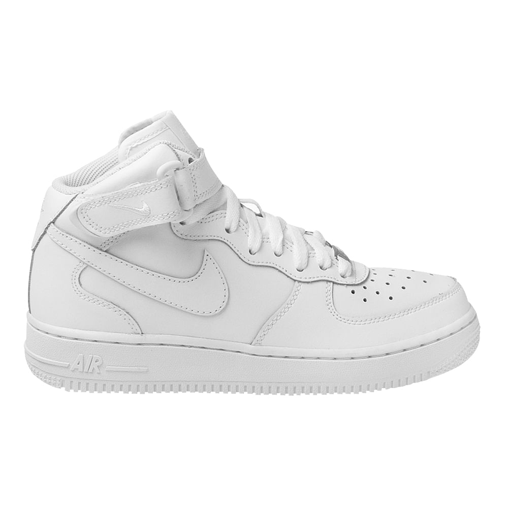 132140ef3be Tênis Nike Air Force 1 Mid GS Branco Infantil - MagicFeet