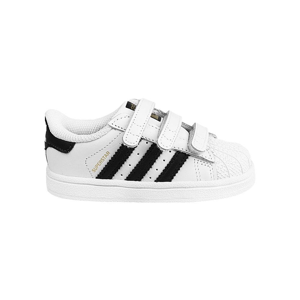 8fa0092590b Tênis adidas Superstar Velcro TD Infantil
