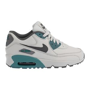 Tenis-Nike-Air-Max-90-GS-Leather-Infantil-Cinza