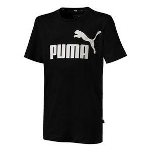 Camiseta-Puma-Ess-Logo-B-Infantil--Preto