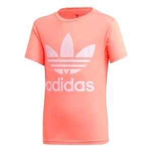 Camiseta-Adidas-Trefoil-J-Infantil-Rosa