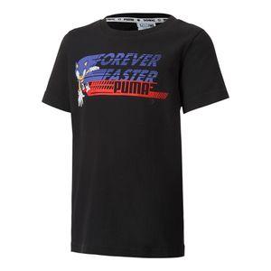 Camiseta-Puma-X-Sega-Infantil-Preta