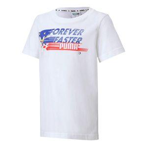 Camiseta-Puma-X-Sega-Infantil-Branca