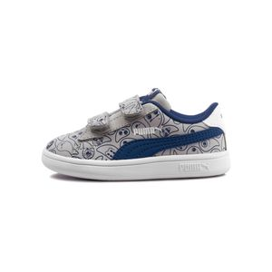 Tenis-Puma-Smash-v2-Monster-Family-TD-Infantil-Cinza