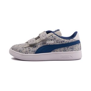 Tenis-Puma-Smash-v2-Monster-Family-PS-Infantil-Cinza