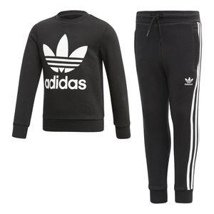 Conjunto-Adidas-Crew-Set-Infantil-Preto