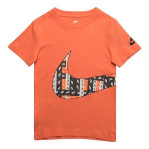 Camiseta-Nike-Lo-Fi-Label-Wrap-Swoosh-Infantil-Laranja