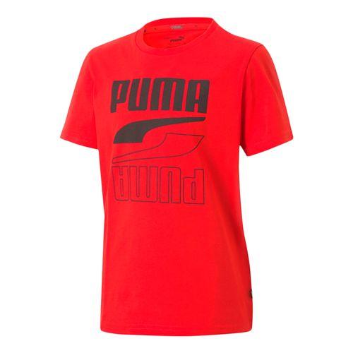 Camiseta-Puma-Rebel-Bold-Infantil-Vermelha