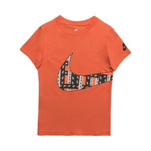 Camiseta-Nike-Label-Wrap-Swoosh-Infantil-Laranja