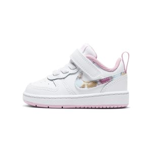 Tenis-Nike-Court-Borough-Low-2-Flrl-TDv-Infantil-Branco