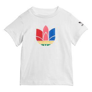 Camiseta-adidas-Trefoil-3D-Adicolor-Infantil-Branca