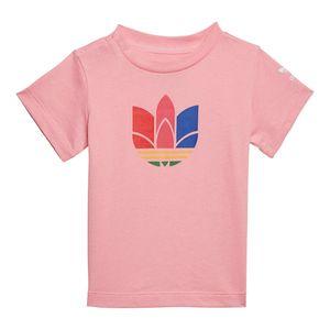 Camiseta-adidas-3D-Trefoil-Infantil-Rosa
