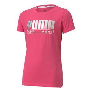 Camiseta-Puma-Alpha-Tee-Infantil-Rosa