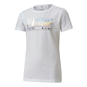 Camiseta-Puma-Alpha-Tee-Infantil-Branca
