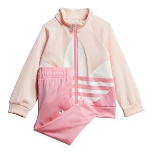 Conjunto-adidas-Big-Trefoil-Infantil-Rosa