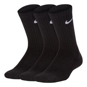Meia-Nike-Performance-Cushioned-Crew-3-Pares-Infantil-Preta