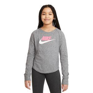 Camiseta-Nike-Infantil-Cinza