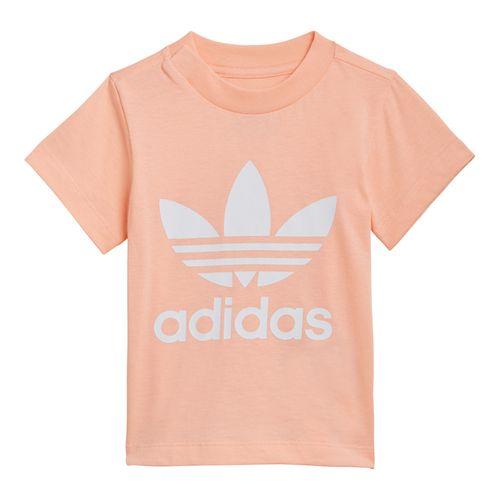 Camiseta-adidas-Originals-Trefoil-Infantil-Salmao