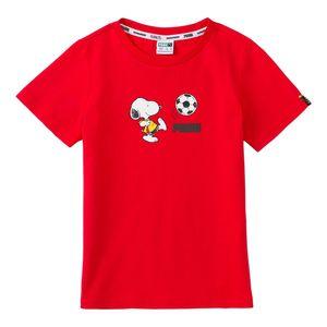 Camiseta-Puma-X-Peanuts-Infantil-Vermelha