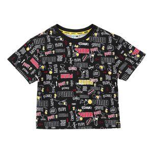 Camiseta-Puma-X-Peanuts-Infantil-Preta