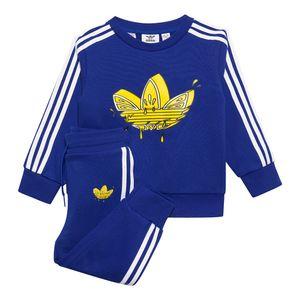 Conjunto-adidas-Crew-Set-I-Infantil-Azul