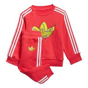 Conjunto-adidas-Crew-Set-I-Infantil-Vermelho