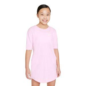 Vestido-Nike-Sportswear-Jersey-Infantil-Rosa