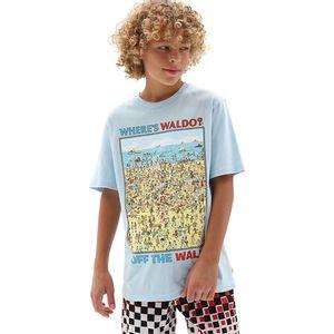 Camiseta-Vans-X-Where-s-Waldo-Infantil-Azul
