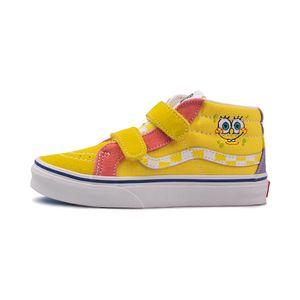 Tenis-Vans-Sk8-mid-Reissue-Velcro-PS-Infantil-Amarelo