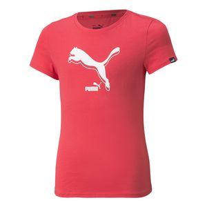 Camiseta-Puma-Power-Logo-Infantil-Rosa