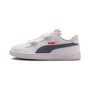 Tenis-Puma-Smash-V2-Sl-Velcro-PS-Infantil-Branco